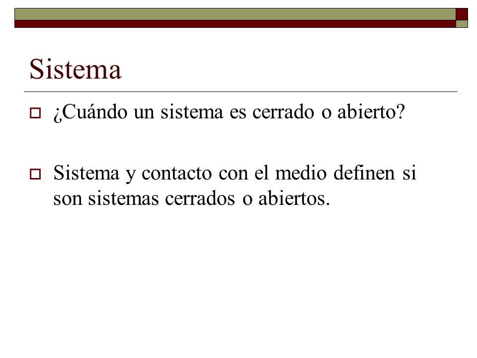 Características de los sistemas Sinergía: El todo es más que la suma de las partes.