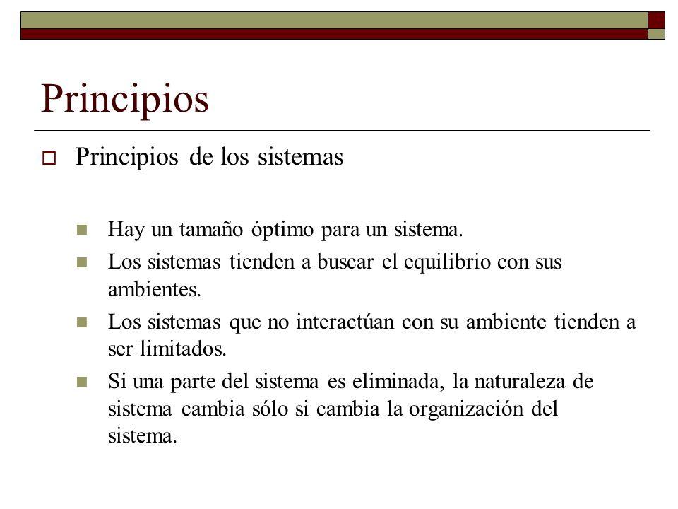 Funcionamiento del sistema Los sistemas constan de entradas, procesos, salida, con la retroalimentación en curso de sus partes