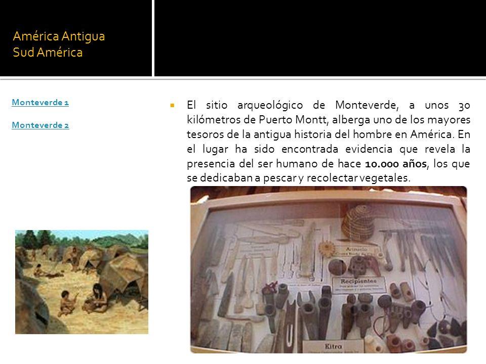 América Antigua Sud América El sitio arqueológico de Monteverde, a unos 30 kilómetros de Puerto Montt, alberga uno de los mayores tesoros de la antigu