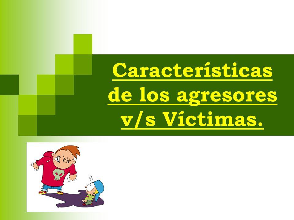 Características de los agresores v/s Víctimas.