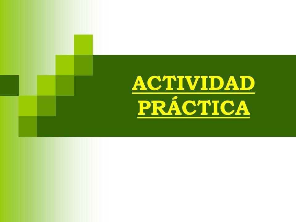 ACTIVIDAD PRÁCTICA