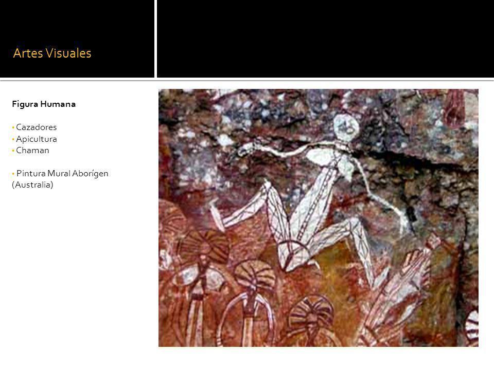 Artes Visuales Figura Humana Cazadores Apicultura Chaman Pintura Mural Aborígen (Australia)
