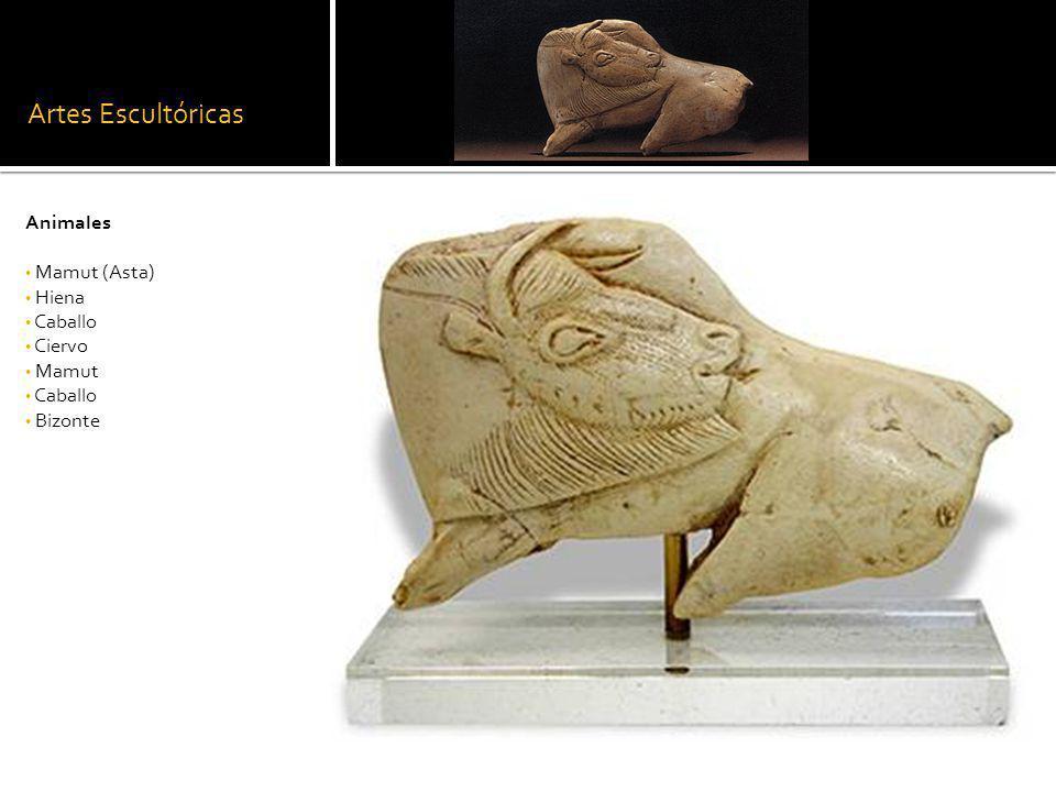 Artes Escultóricas Animales Mamut (Asta) Hiena Caballo Ciervo Mamut Caballo Bizonte