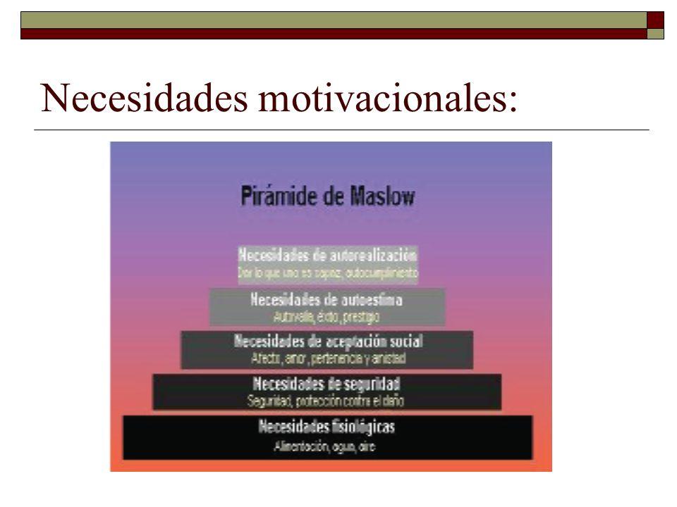 Necesidades motivacionales: