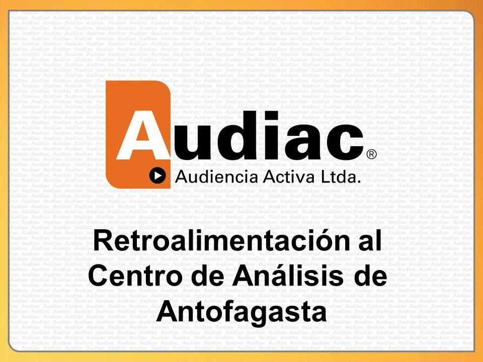 Retroalimentación al Centro de Análisis de Antofagasta