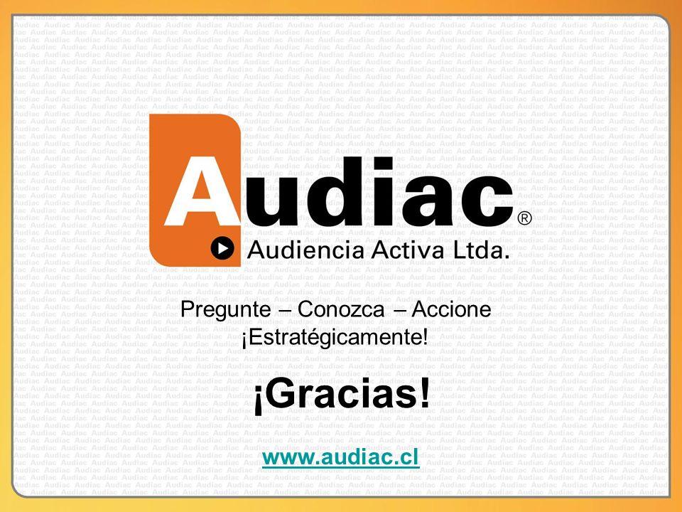 Pregunte – Conozca – Accione ¡Estratégicamente! www.audiac.cl ¡Gracias!