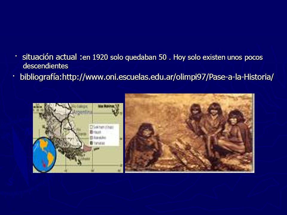 · situación actual : en 1920 solo quedaban 50. Hoy solo existen unos pocos descendientes · situación actual : en 1920 solo quedaban 50. Hoy solo exist