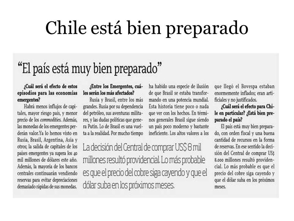 Chile está bien preparado