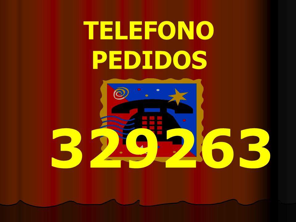 TELEFONO PEDIDOS 329263
