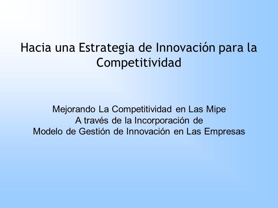 Mejorando La Competitividad en Las Mipe A través de la Incorporación de Modelo de Gestión de Innovación en Las Empresas Hacia una Estrategia de Innova