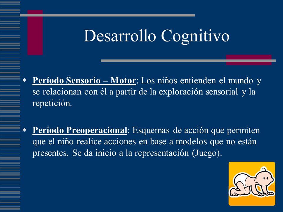 Desarrollo Cognitivo Período Sensorio – Motor: Los niños entienden el mundo y se relacionan con él a partir de la exploración sensorial y la repetició