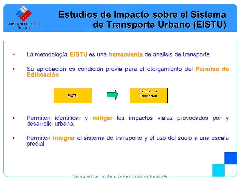 10 Estudios de Impacto sobre el Sistema de Transporte Urbano (EISTU) La metodología EISTU es una herramienta de análisis de transporteLa metodología E