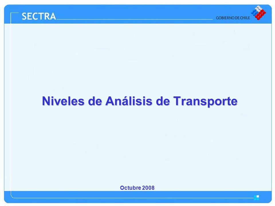 Octubre 2008 Niveles de Análisis de Transporte