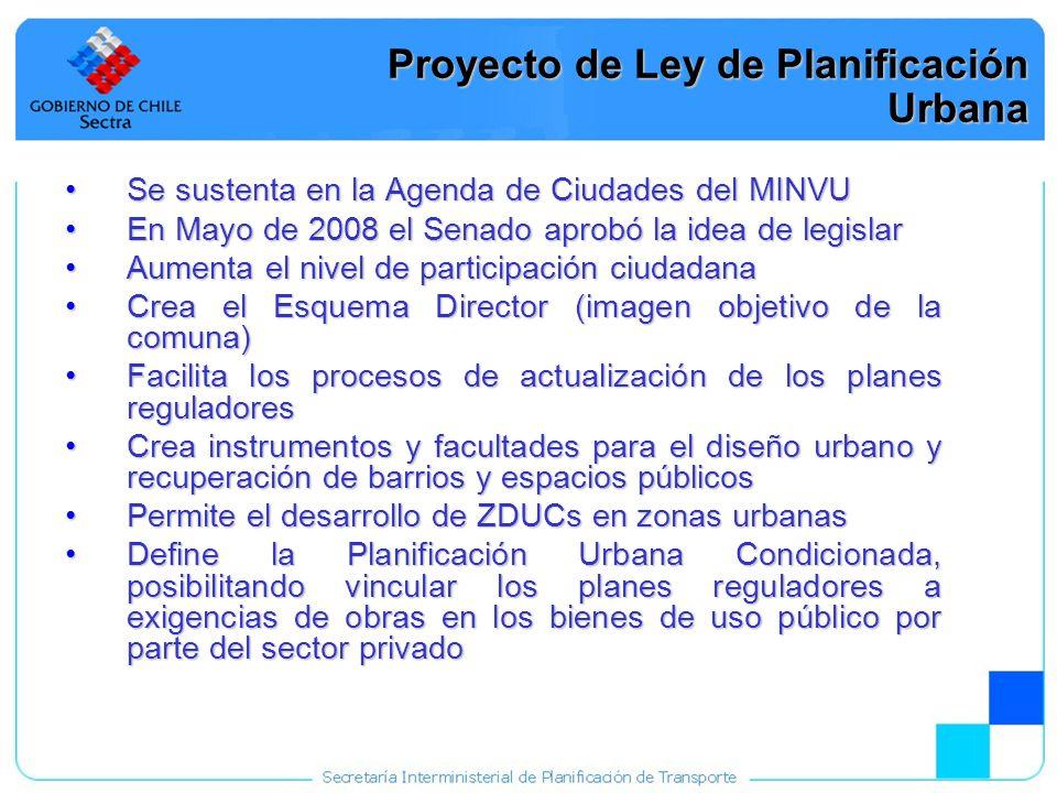 22 Proyecto de Ley de Planificación Urbana Se sustenta en la Agenda de Ciudades del MINVUSe sustenta en la Agenda de Ciudades del MINVU En Mayo de 200