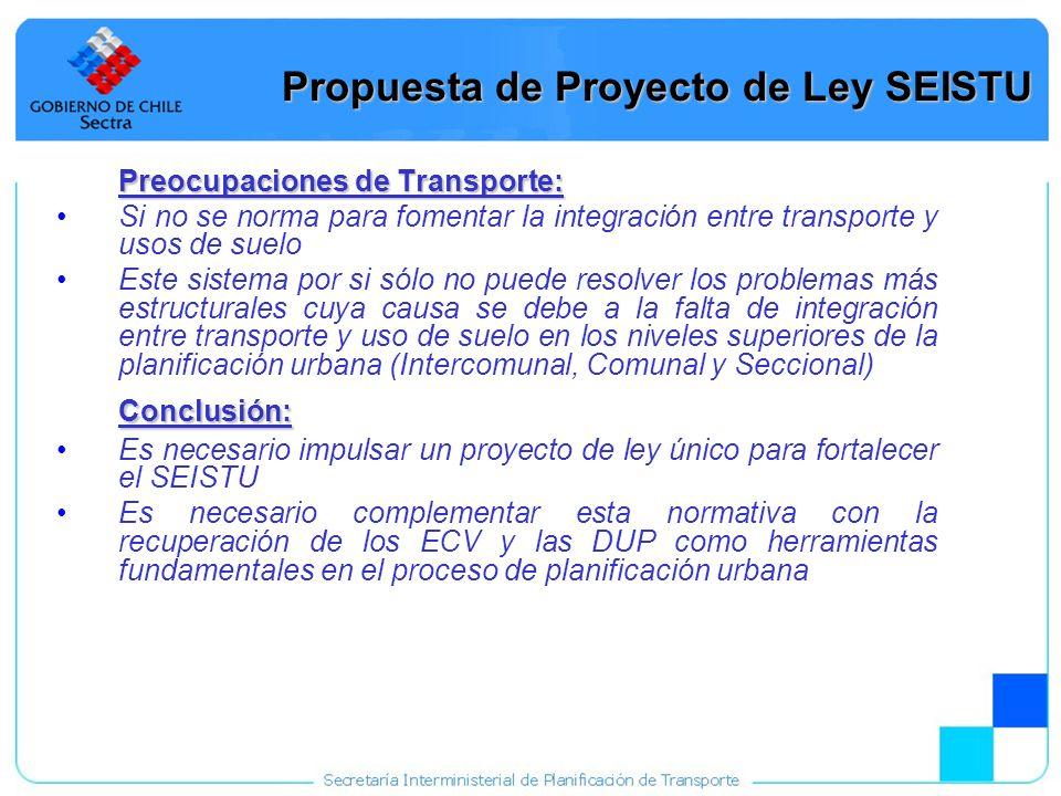 27 Preocupaciones de Transporte: Si no se norma para fomentar la integración entre transporte y usos de suelo Este sistema por si sólo no puede resolv