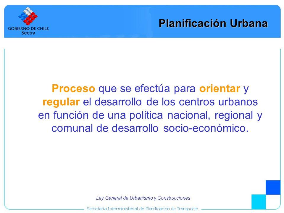 4 Planificación Urbana Proceso que se efectúa para orientar y regular el desarrollo de los centros urbanos en función de una política nacional, region