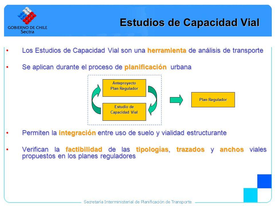 8 Estudios de Capacidad Vial Los Estudios de Capacidad Vial son una herramienta de análisis de transporteLos Estudios de Capacidad Vial son una herram