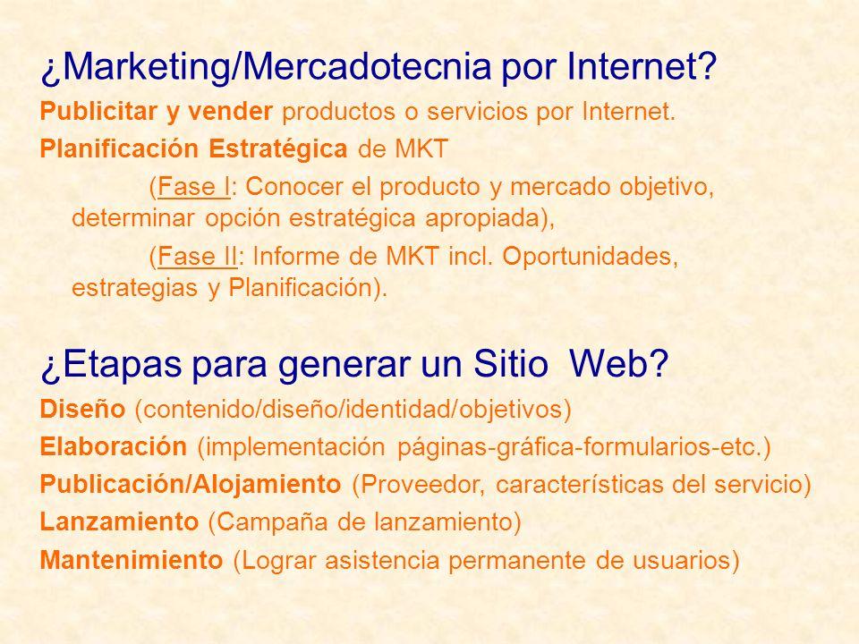 ¿Etapas para generar un Sitio Web.
