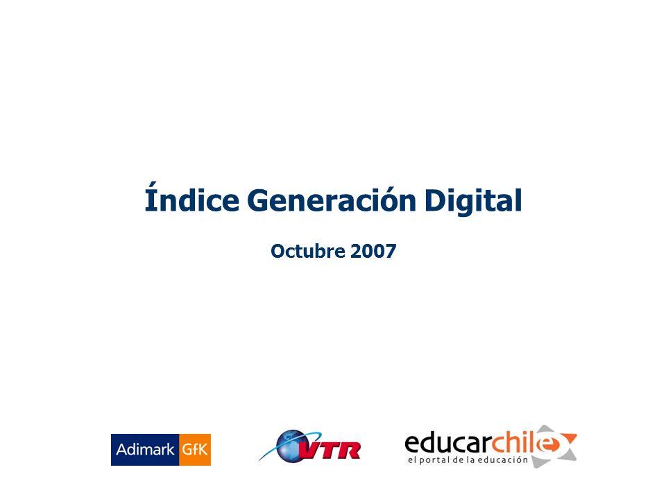 1 Índice Generación Digital Octubre 2007