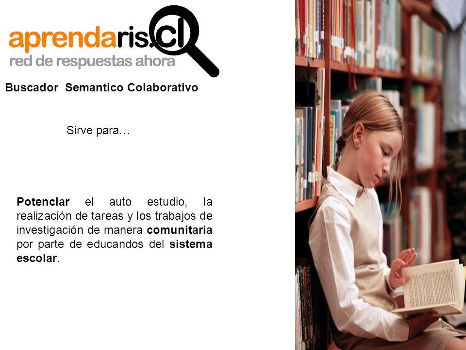 Potenciar el auto estudio, la realización de tareas y los trabajos de investigación de manera comunitaria por parte de educandos del sistema escolar.