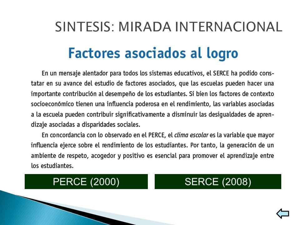 SERCE (2008)PERCE (2000) Producir información sobre los logros de aprendizaje de los alumnos y analizar los factores asociados de estos avances. Argen