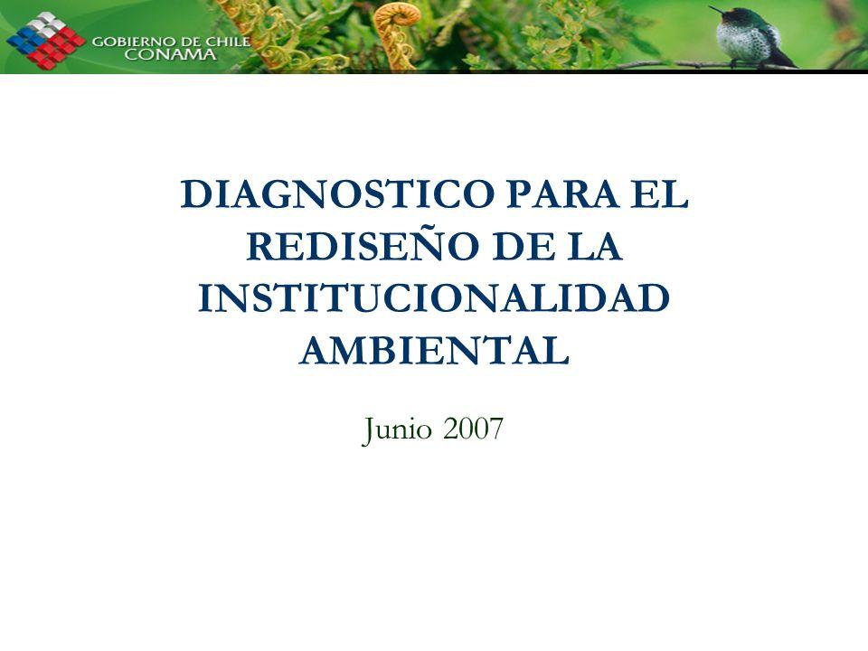 DIAGNOSTICO PARA EL REDISEÑO DE LA INSTITUCIONALIDAD AMBIENTAL Junio 2007