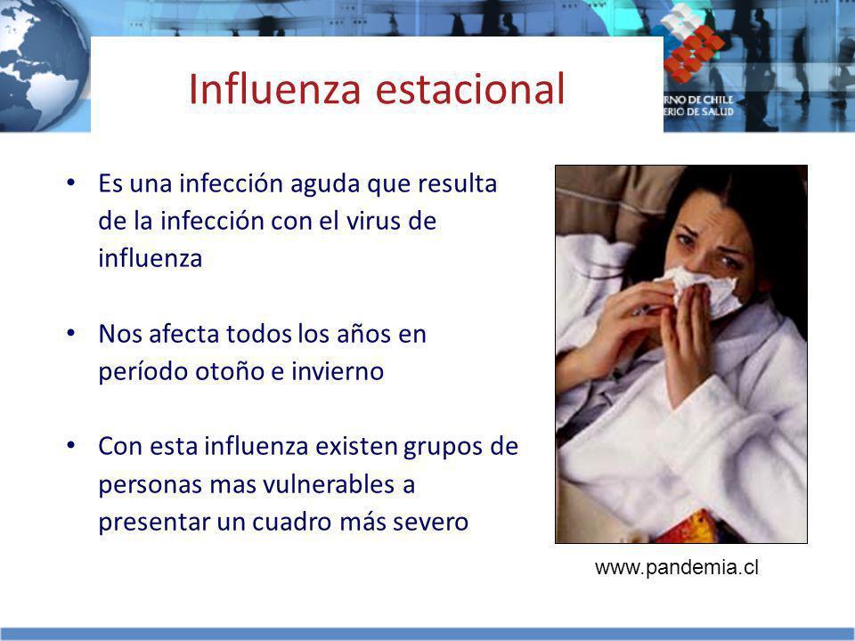 Es una infección aguda que resulta de la infección con el virus de influenza Nos afecta todos los años en período otoño e invierno Con esta influenza