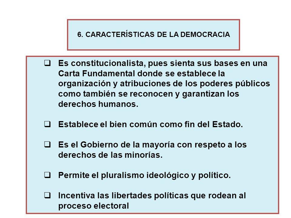 Es constitucionalista, pues sienta sus bases en una Carta Fundamental donde se establece la organización y atribuciones de los poderes públicos como t