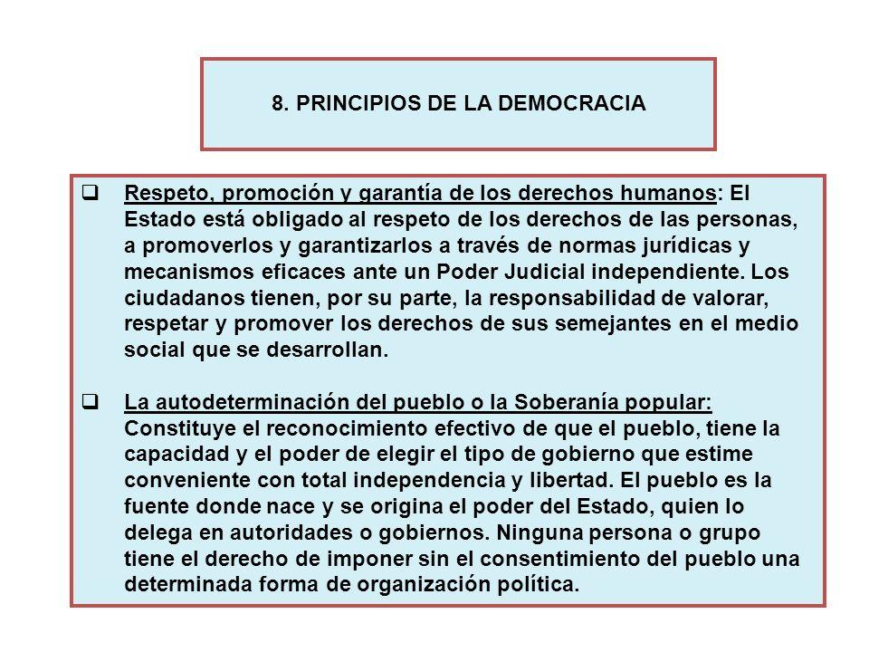 Respeto, promoción y garantía de los derechos humanos: El Estado está obligado al respeto de los derechos de las personas, a promoverlos y garantizarl