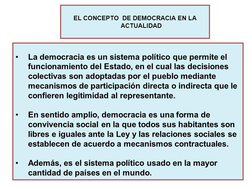 La democracia es un sistema político que permite el funcionamiento del Estado, en el cual las decisiones colectivas son adoptadas por el pueblo median