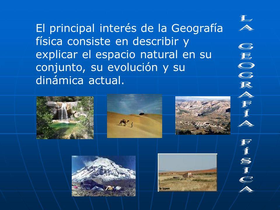 Además, el estudio de cada uno de estos da origen a distintas sub. ramas de la Geografía física, como son: La Climatología: Estudio de climas La Geomo