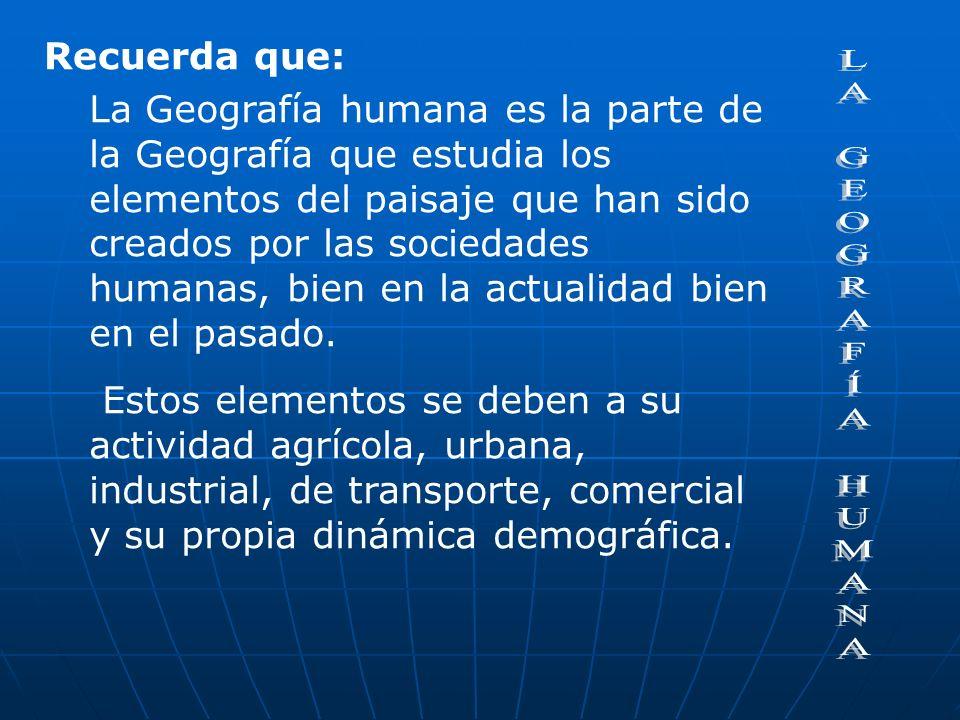 Ramas de la Geografía de la población, con métodos de la Demografía, la Sociología y las Matemáticas. Geografía rural, con métodos de la Agronomía, la