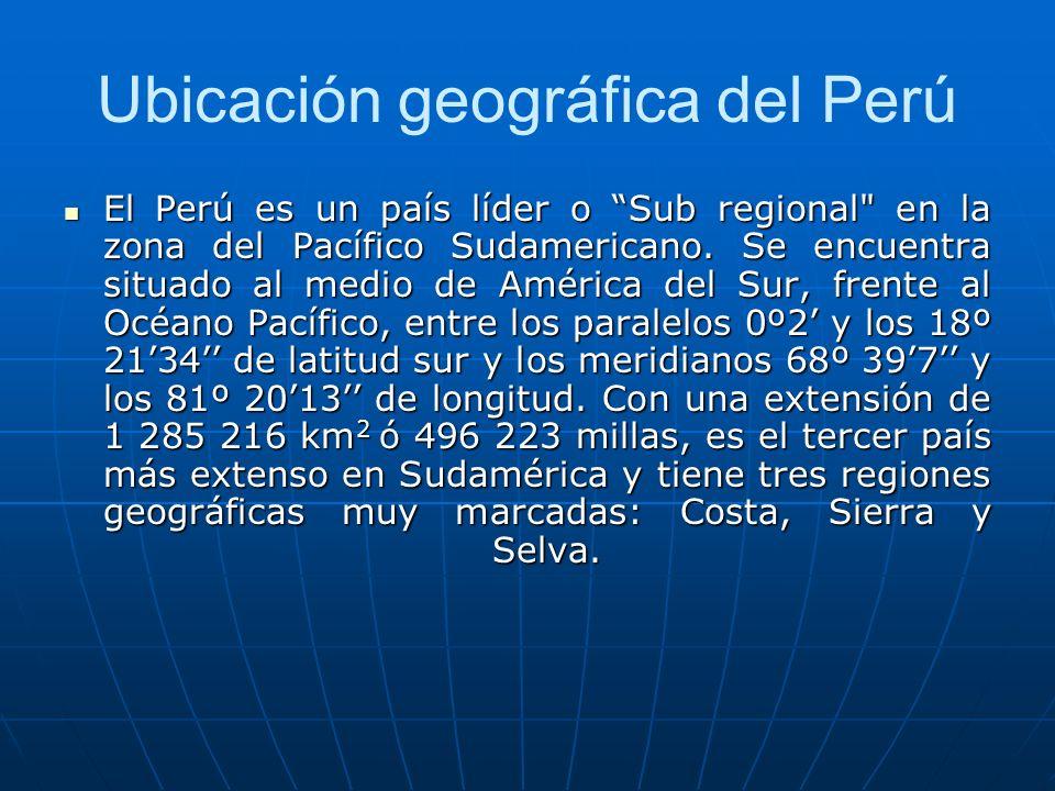 ¿Cuál es la ubicación geográfica de Perú?.