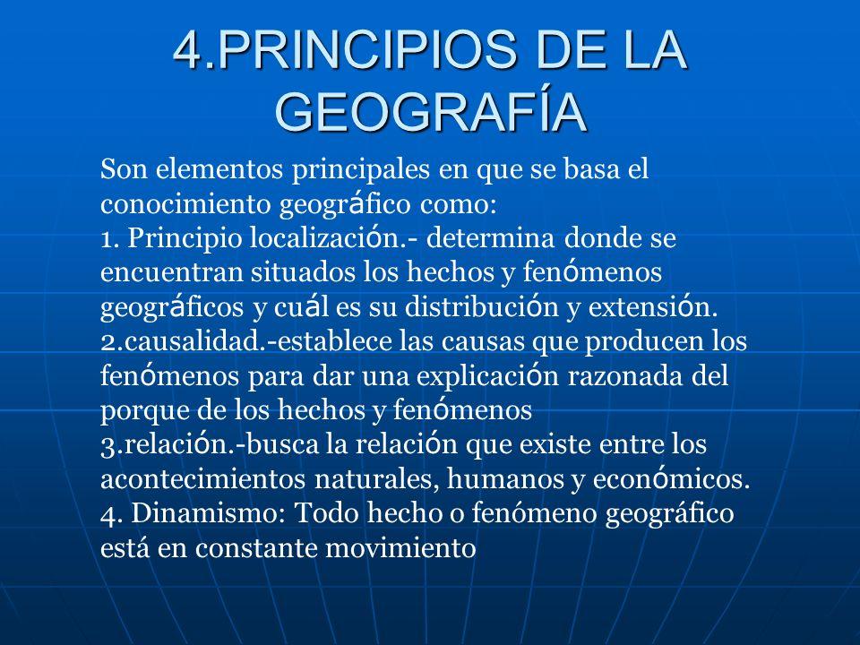 3.Objetivo de la Geografía Analizar y valorar los recursos con que cuenta el hombre para así poder utilizarlos y conservarlos de manera racional para