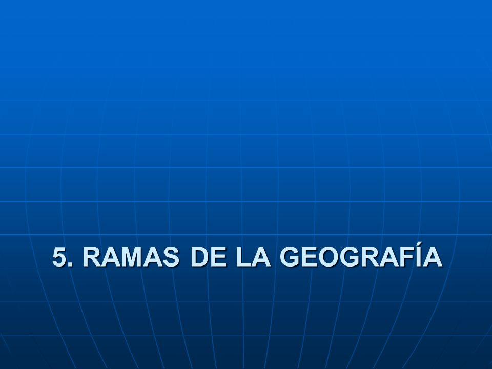 4.PRINCIPIOS DE LA GEOGRAFÍA Son elementos principales en que se basa el conocimiento geogr á fico como: 1. Principio localizaci ó n.- determina donde
