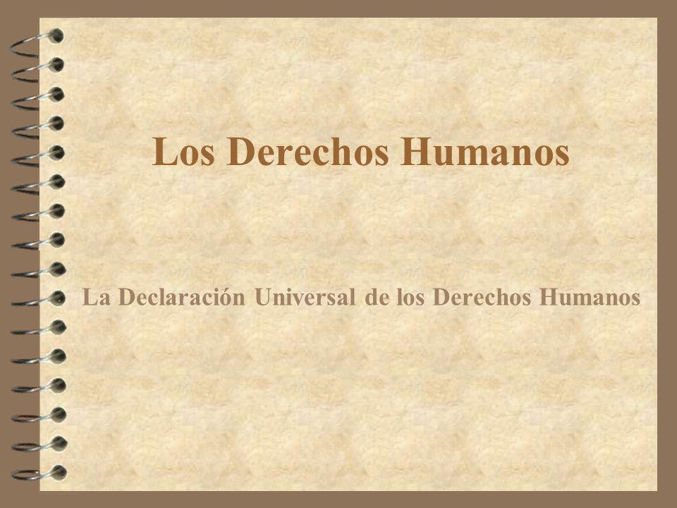 Presentación.4 Análisis Histórico. 4 Clasificación de los Derechos Humanos.