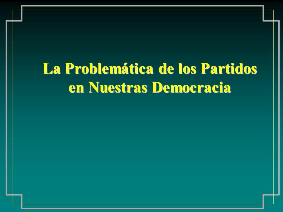 La Problemática de los Partidos en Nuestras Democracia