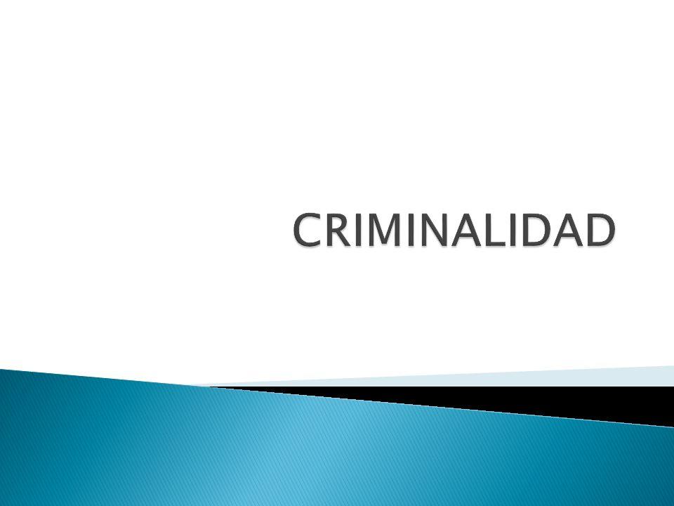 La criminalidad urbana es uno de los grandes problemas actuales.