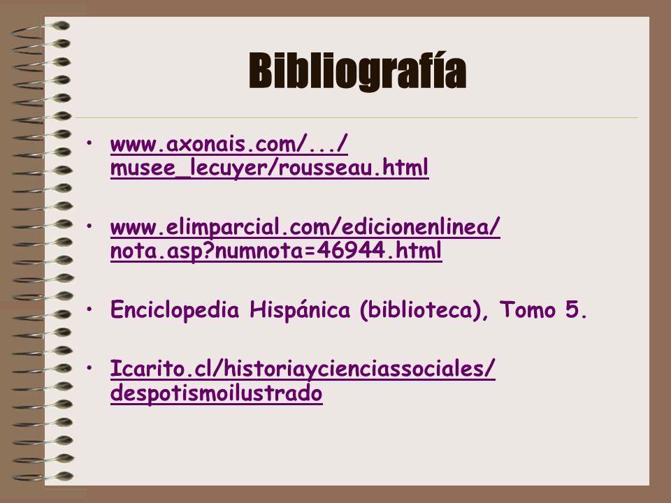 Bibliografía www.axonais.com/.../ musee_lecuyer/rousseau.htmlwww.axonais.com/.../ musee_lecuyer/rousseau.html www.elimparcial.com/edicionenlinea/ nota