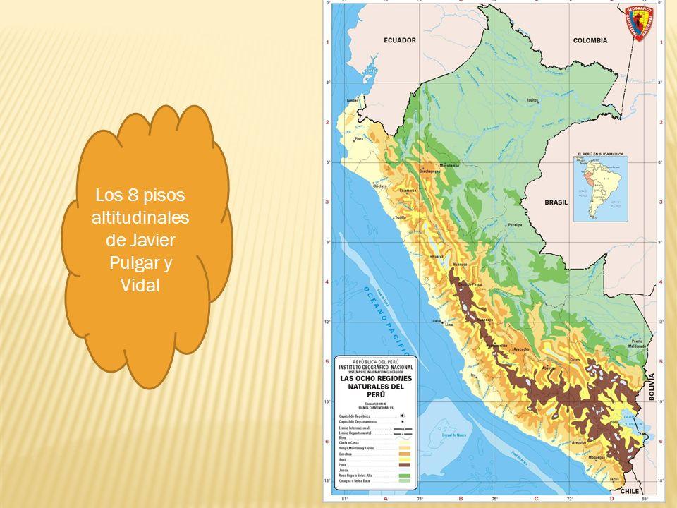 Los 8 pisos altitudinales de Javier Pulgar y Vidal