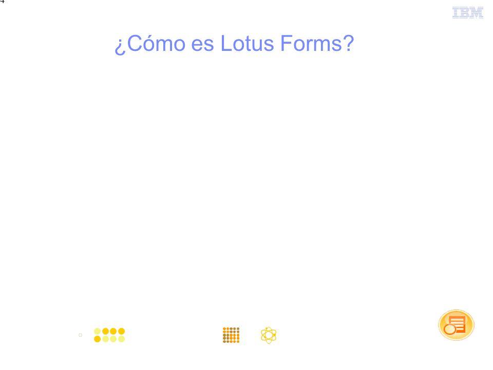 4 ¿Cómo es Lotus Forms