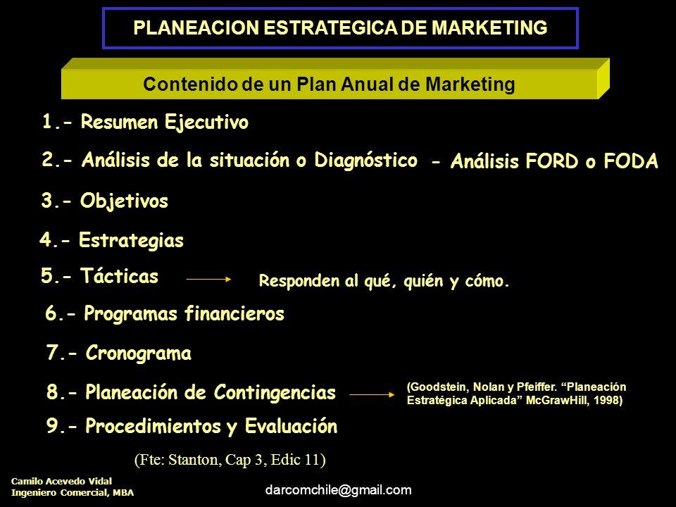 darcomchile@gmail.com Instrumentación y Evaluación SECUENCIA DE LA PLANEACION ESTRATEGICA PLANEACION ESTRATEGICA DE LA COMPAÑÍA 1.- Definir la Misión.