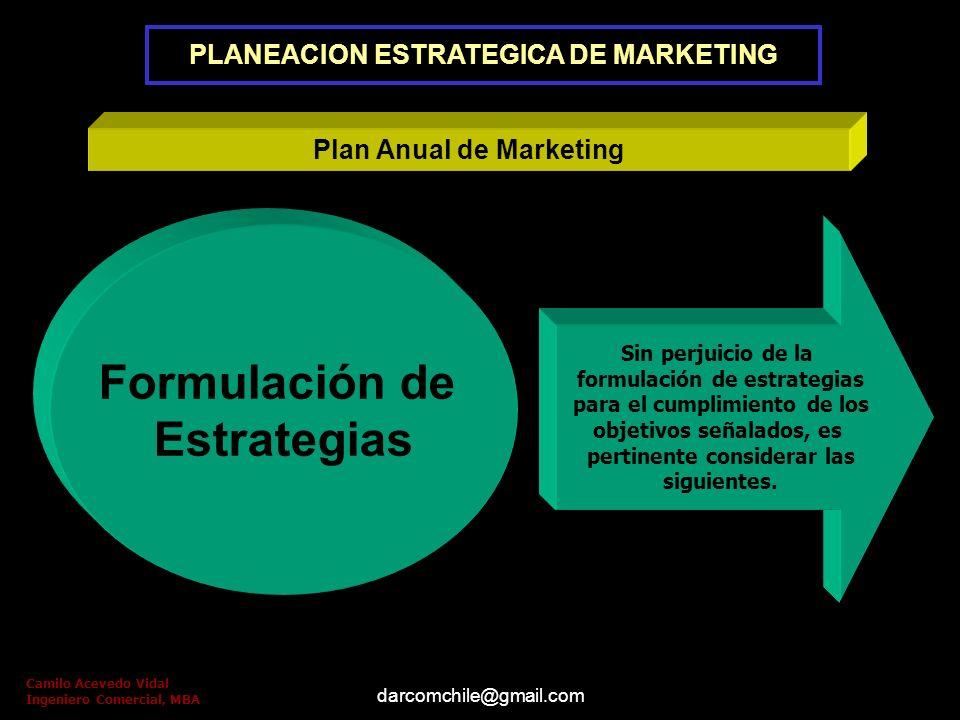 darcomchile@gmail.com Plan Anual de Marketing Definición y alcance de los Objetivos Objetivos financieros Objetivos de Marketing Camilo Acevedo Vidal