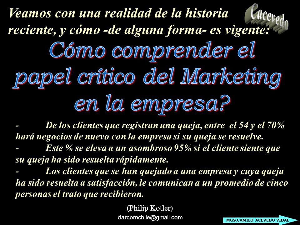 darcomchile@gmail.com Principio N° 8: Desarrollar marketing de alta tecnología.