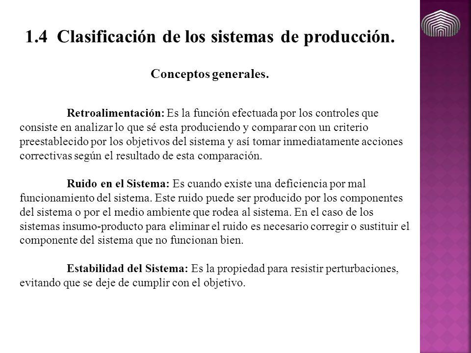 Retroalimentación: Es la función efectuada por los controles que consiste en analizar lo que sé esta produciendo y comparar con un criterio preestable