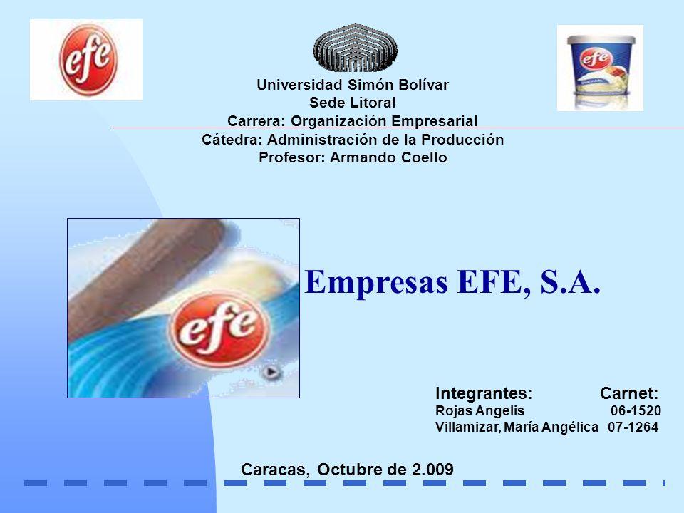 Universidad Simón Bolívar Sede Litoral Carrera: Organización Empresarial Cátedra: Administración de la Producción Profesor: Armando Coello Caracas, Oc