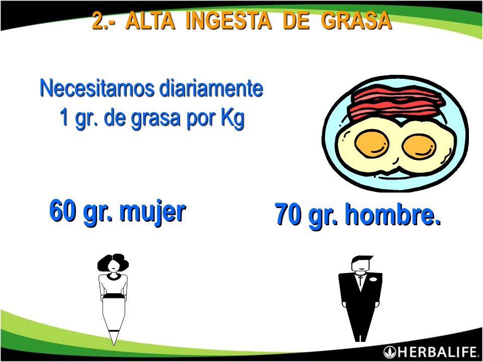 10 Días Un Mes Un Año 110 g. Grasa 1.1 Kg. 3.3 Kg. 39 Kg. Los gramos de grasa se acumulan día tras día. 1.000 demás