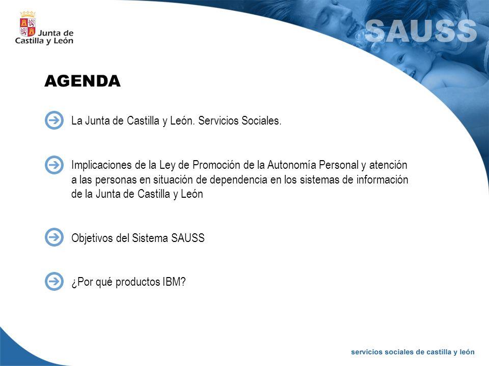 AGENDA La Junta de Castilla y León. Servicios Sociales. Implicaciones de la Ley de Promoción de la Autonomía Personal y atención a las personas en sit