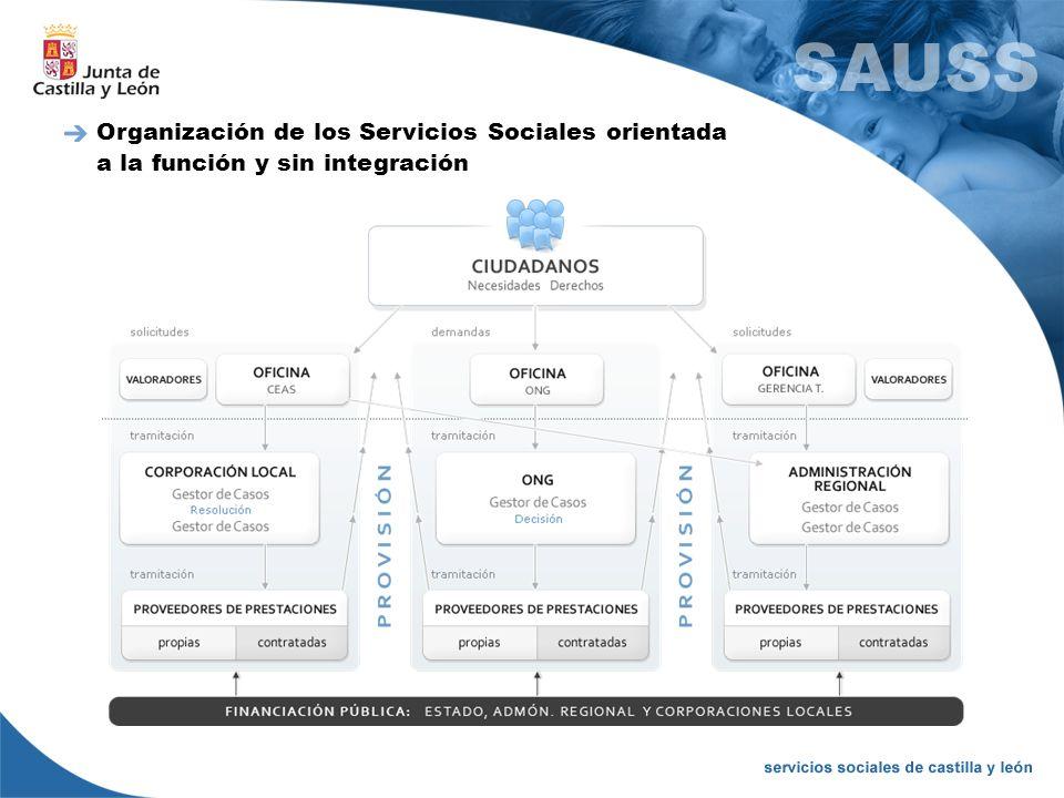 Organización de los Servicios Sociales orientada a la función y sin integración