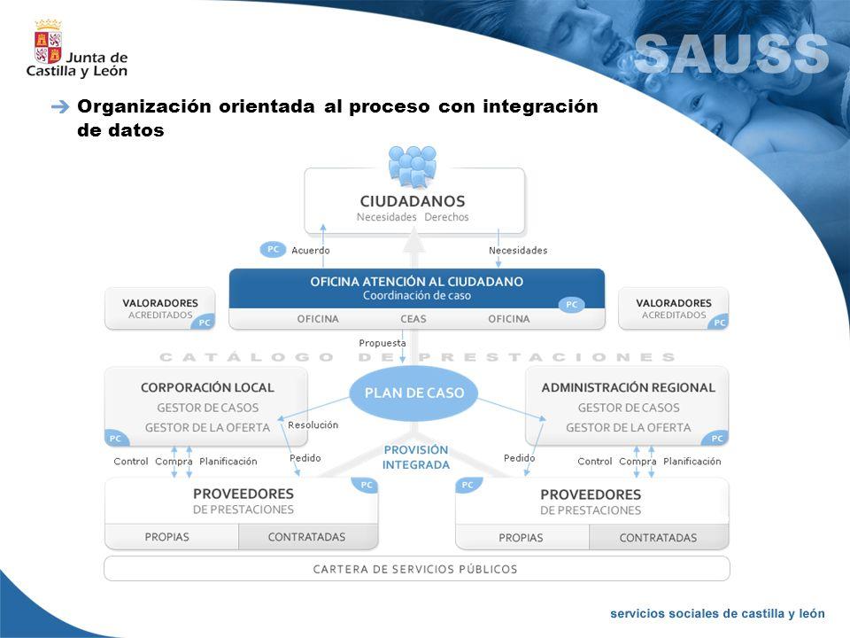 Organización orientada al proceso con integración de datos
